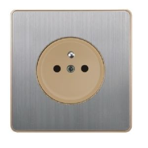 British Standard Stainless French-Style Wall Socket