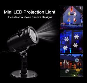 Christmas Halloween 14 Theme Pattern Motion Projector Light