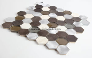 Aluminum Mosaic Tiles Stone Tile Matel Glass Tiles Decoration Kitchen Backsplash Bathroom Mosaic Wall Tiles pictures & photos