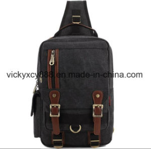 Men Fashion Leisure Single Shoulder Canvas iPad Chest Bag (CY3709) pictures & photos