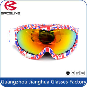 Top Sale Wide Sphercial Lens Full Shield Protective Snowmobile Racing Snowboard Goggles pictures & photos