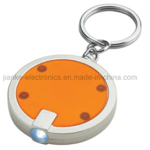 Promotional LED Flashlight Key Chain with Logo Printed (4052)