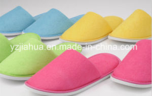 Colorful Five Star Hotel Terry EVA Whashable Slipper pictures & photos