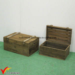 Available Vintage Chic Rustic Wooden Box With Lid