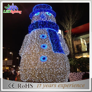 shopping mall beautiful design led light christmas snowman decoration