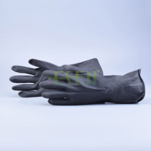 Black Rubber Gloves/Household Latex Gloves pictures & photos