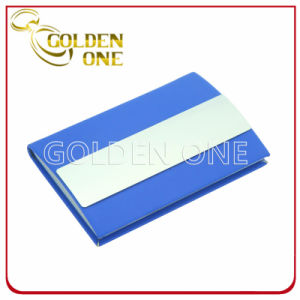 Metal and PU Leather Name Card Case pictures & photos