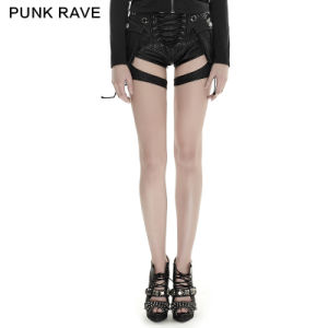 K-252 Punk Rave 2016 Summer Latest Fashion Sexy Women Vintage Leather Pants