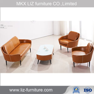 Leather Small Office Sofa Set