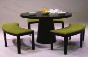 Bar Round Pedestal Dining Table and Chairs for Coffee Shop