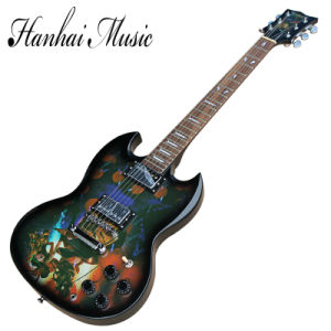 Hanhai Music/Sg Style Lol Electric Guitar with Jinx Pattern pictures & photos
