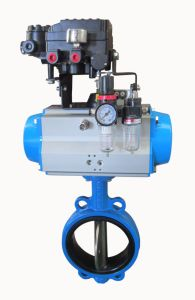 Butterfly Valve with Pneumatic Actuator (HAT-75D) pictures & photos