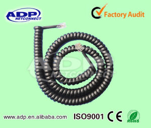 Spiral Cable Retracted /Telephone Coiled Cable 4p4c/2p4c/6p4c