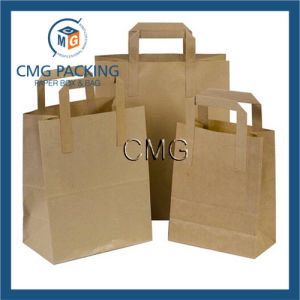 Brown Paper Carrier Bags with Flat Handles pictures & photos