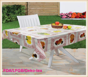 New Designs in 2016 PVC Transparent / Clear Tablecloths Factory pictures & photos
