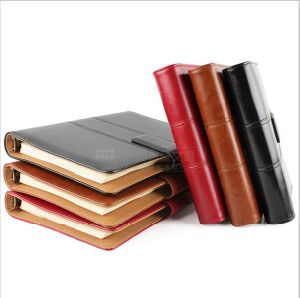 Fashion Magnetic Buckle Creative Notebook Leather Soft Cover A6 A5 Ring Binder Spiral Note Book Organizer File Folder