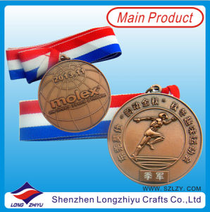 Bronze Casting Medal for Sport with Ribbon pictures & photos