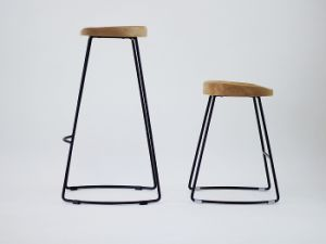 Awe Inspiring Living Room Bar Stool Wooden Seat Metal Base For Cafe Restaurant Ibusinesslaw Wood Chair Design Ideas Ibusinesslaworg