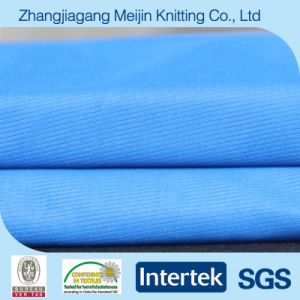 Blue Warp Knit 100% Polyester Shirt Fabric for Fashion (MJ5044)