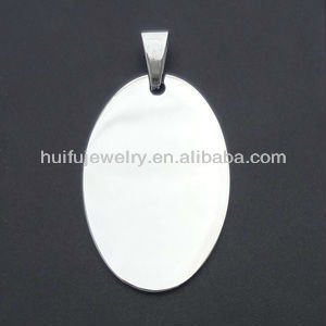 Fashion Stainless Steel Oval Shaped Dog Tag Pendant pictures & photos