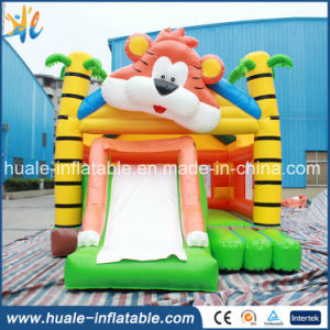 Little Inflatable Bouncer for Kids Play, Inflatable Trampoline with Small Slide