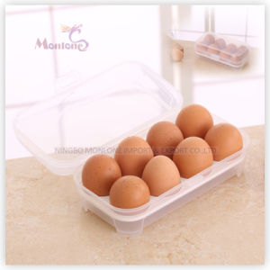 Food Grade Plastic PP Kitchen Storage 8-Compartment Egg Container pictures & photos