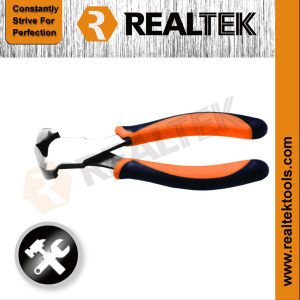 Professional Nickel-Plated End Cutting Pliers with Bi-Color Dipped Handles pictures & photos