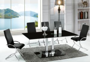 Black Glass Home Furniture Dining Room Table (A2712)