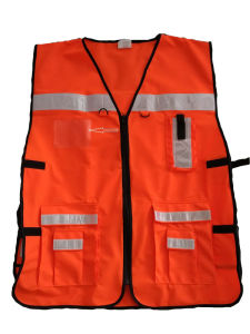 En20471 High Visibility Class 2 Muli-Fuctional Reflective Safety Vest for Emergencey Outworks From Factory pictures & photos