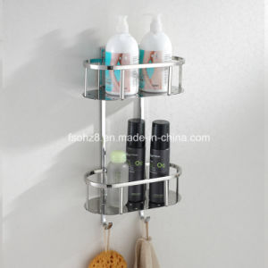 Hot Sale Stainless Steel Double Shampoo Hanger Bathroom Basket (6613) pictures & photos