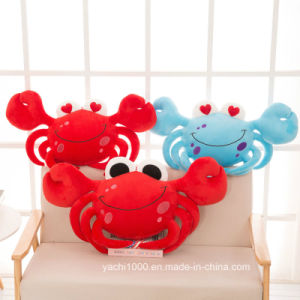 Stuffed Crab Shaped Plush Toy Blue Pillow pictures & photos