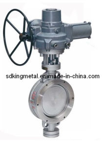 Wafer Type Metal Sealing PTFE Seat Gear Operation Buttfly Valves pictures & photos