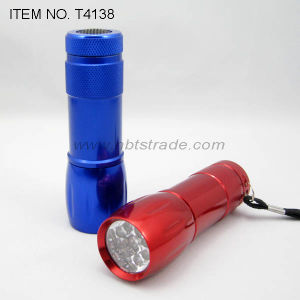 Alluminum Alloy 9 LED Flashlight (T4138)