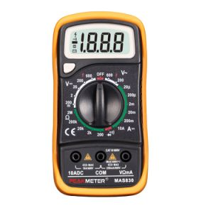 2000 Counts Mas830 LCD Display Digital Multimeter