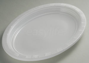 Easylife V302325 30X23cm PS Oval Plate White pictures & photos