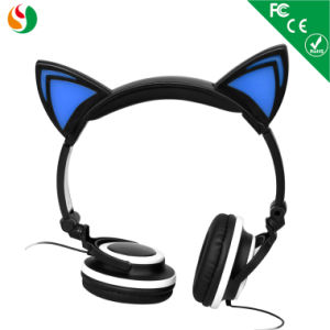 colorful Glowing Cat Ear Kids Headphones pictures & photos