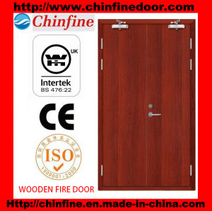 Double Wooden Fire Door (CF-F021) pictures & photos