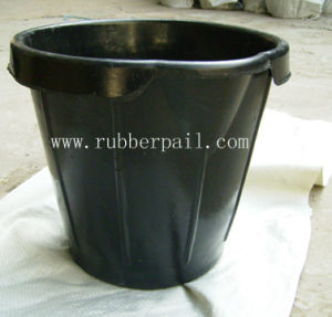 Rubber Bucket, Recycled Rubber Container, Rubber Pail (1826)