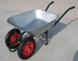 Wheelbarrow with Two Wheels Wb6203A pictures & photos