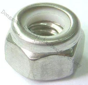 Steel Hex Nylon and Lock Nuts with White Zinc (HK048)