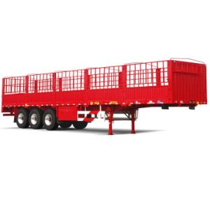 ISO CCC Approved 3axles 33tons Stake Semi Trailer
