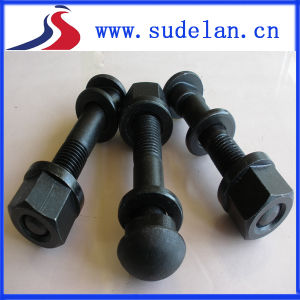 China Railway Track Bolts with Flange Nuts and Washers