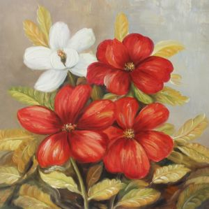 Pretty Home Decorative Hand Painted Flower Oil Painting