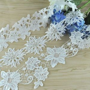 New Design Water Soluble Polyester Embroidered Lace pictures & photos