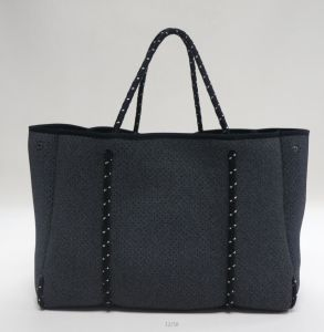Denim Perforated Neoprene Lady Fashion Tote Handbag pictures & photos