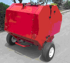The Hay Baler Machine with Pto