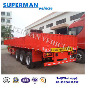 Tri Axle Compartment Side Wall Cargo Truck Semi Trailer pictures & photos