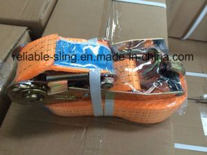Ratchet Lashing/Lashing Tie Down/Cargo Lashing Belt with CE SGS ISO EN12195-2 pictures & photos