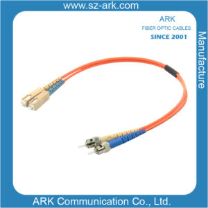 Sc-St Multimode Duplex Fiber Optic Cable/Patchcord pictures & photos