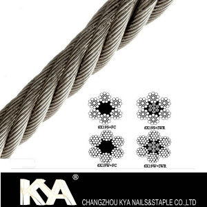 (6X19S) Stainless Steel Wire Rope for Derricking, Lifting, Drawing pictures & photos